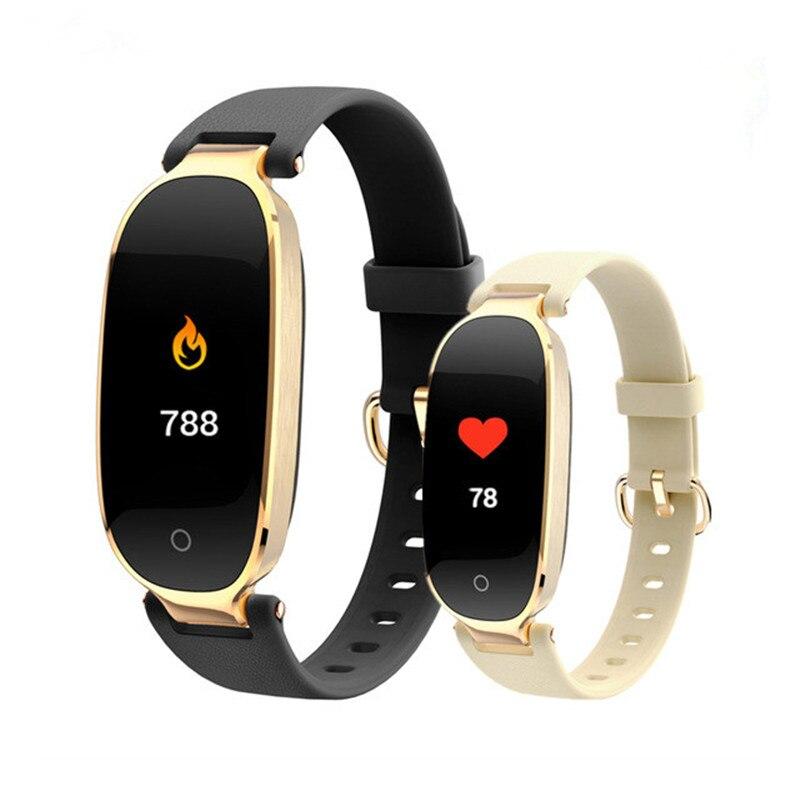 Orginal Mode Smart Armband Mädchen Frauen Herz Rate Monitor Schrittzähler Handgelenk Smart Band Dame Weibliche Fitness Tracker Armband