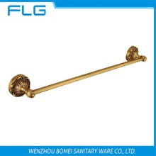 Free Shipping FLG100218 Towel Bar Wall Mounted Antique Brass Art Curving Base Single Bar Towel Bar,Bathroom Hardware Accessories