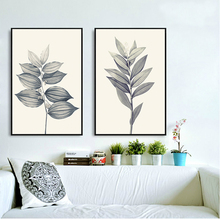 100% Hand Painted Simple Line Plants Morden Art Oil Painting On Canvas Wall Adornment Pictures For Live Room Home Decor