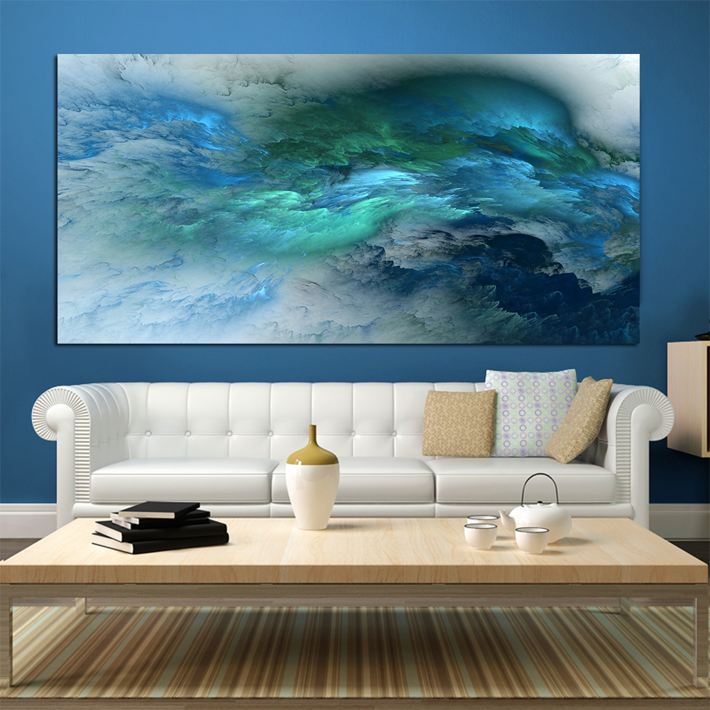 Wangart abstract colors unreal canvas art wall art - Modern wall decor for living room ...