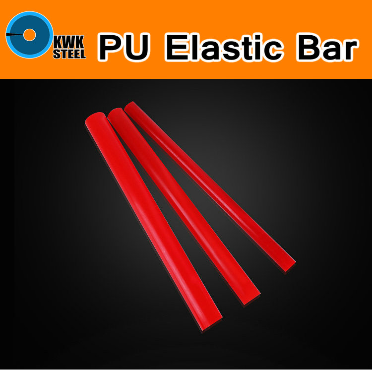 PU Elastic Bar Rod PU Round Bar Rubber Polyurethane Dichotomanthes Die Pad Mould Sealing Gasket Filler Round Stick Red Color