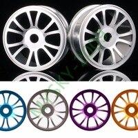 4pcs Aluminium Wheel Rims HEX 17 Mm For 1 8 RC Model Off Road 4WD Car