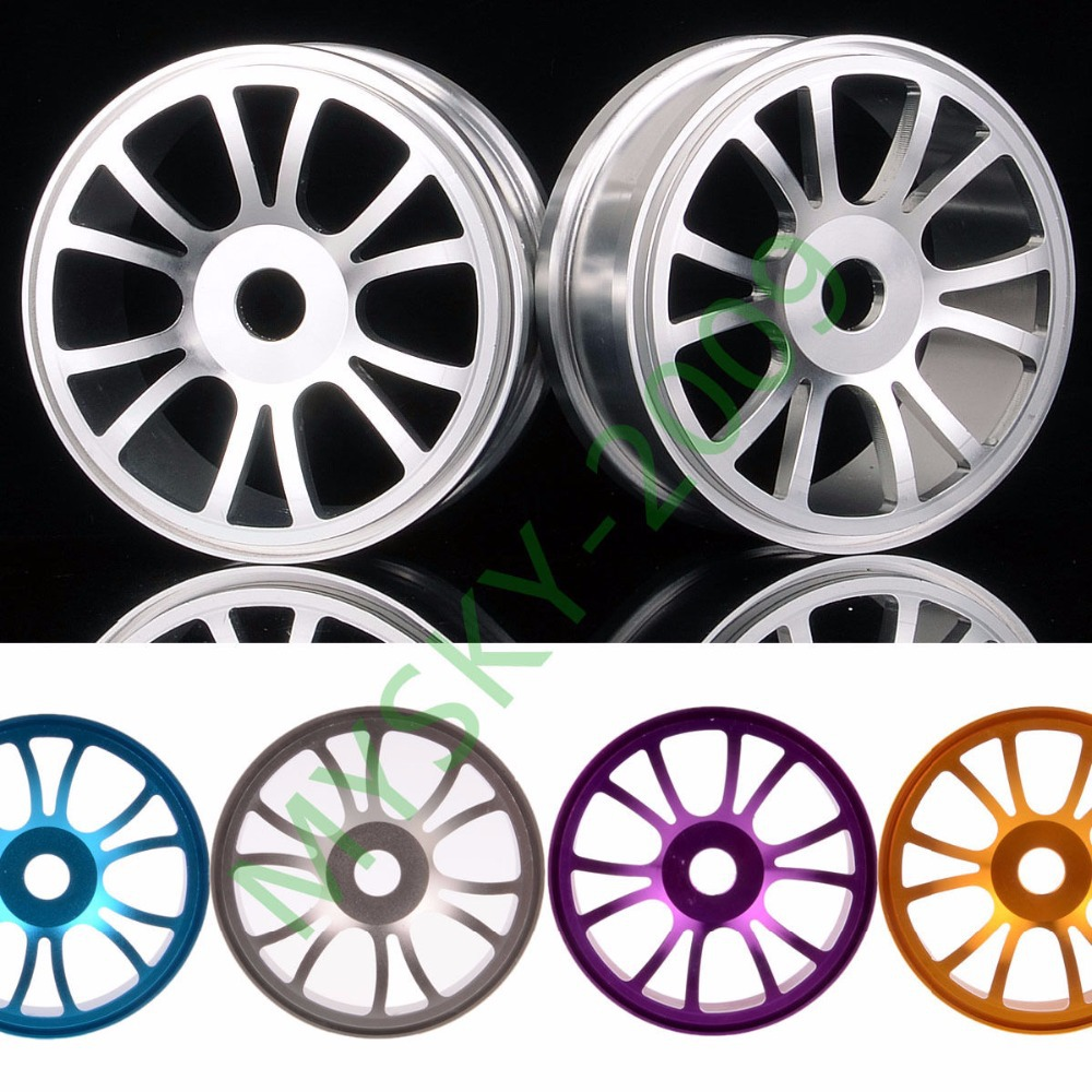 4pcs Aluminium Wheel Rims HEX 17 mm for 1:8 RC Model off-road 4WD Car Himoto Redcat HSP Racing M84 hsp rc car 1 10 electric power remote control car 94601pro 4wd off road short course truck rtr similar redcat himoto racing