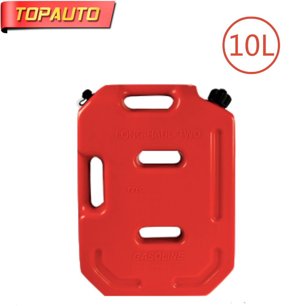 10L Fuel Tank Cans Spare Plastic Petrol Tanks Mount Motorcycle Car Gas Can Gasoline Oil Container