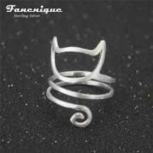 Шпагат молодая freeshipping стерлингового кошка серебра регулируемая девушка кольца кольцо изделия
