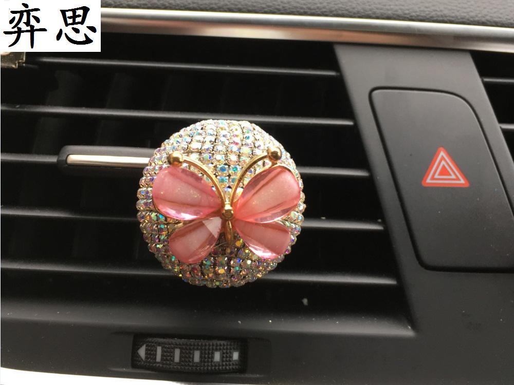 Exquisita bola de diamantes perfume para coche Estilo de coche de - Accesorios de interior de coche