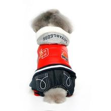 Pet Canine Garments USA Match Rompers Cotton Autumn Winter Waterproof Jacket For Pet Medium Canine Mascotas Roupa De Cachorro 521