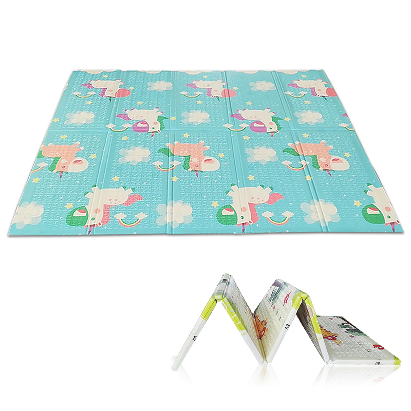 Bébé ramper tapis de jeu mètre escalade Pad Double face fruits lettres et heureux ferme bébé jouets tapis de jeu enfants tapis bébé jeu