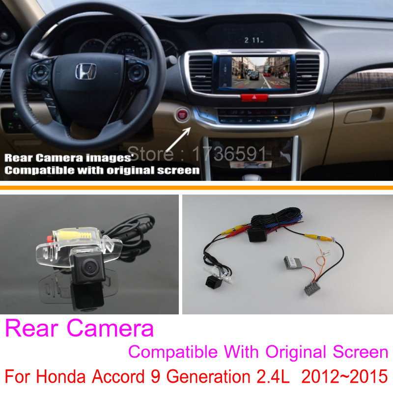 For Honda Accord 9 Generation 2.4L  2012~2015 RCA & Original Screen Compatible / Rear View Camera Sets / Back Up Reverse Camera|rear view camera|rear view camera set|rear camera view - title=