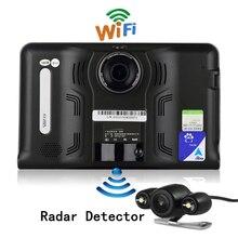Wholesale Udricare 7 inch GPS Android WiFi GPS Navigation DVR Camcorder 16GB Radar Detector Allwinner A33 Quad Core Rear View Camera GPS