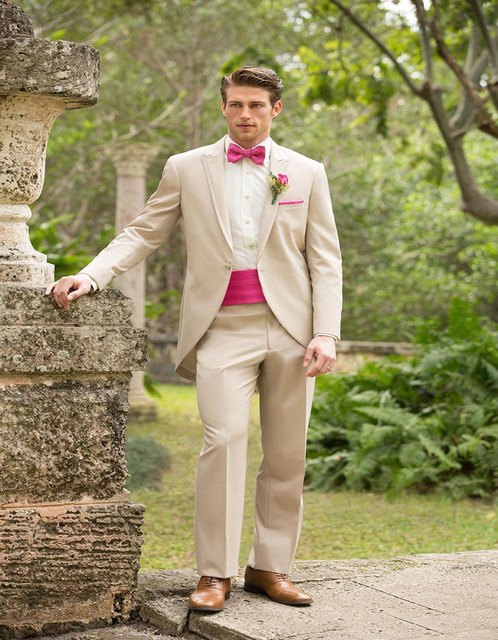 Custom Made Suits Light Grey Groom Tuxedos Wedding Wear Dress Vest Mens