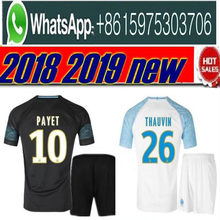 Olympique de Marseille kit sets Soccer jersey 2018 2019 OM Marseille  Maillot De Foot PAYET L.GUSTAVO THAUVIN jerseys 1819 footba 68c64e7d0