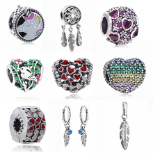 Slovecabin 2018 Valentine's Day Gift 925 Sterling Silver Burst Of Love Charms Bead Fit For Original Bracelet DIY Jewelry Marking
