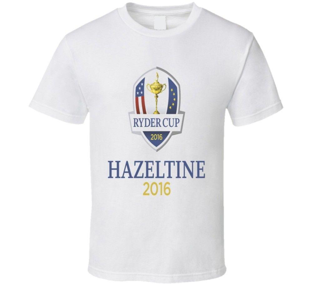 Ryder Cup Hazeltine 2016 Golfer Golfing T Shirt Printed T-Shirt MenS Short Sleeve O-Neck T-Shirts Summer Stree Twear