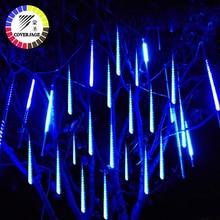 Coversage 50cm Meteor Shower Tubes Christmas Tree Lights Outdoor Led String Garland Garden Guirlande Lumineuse Luces Navidad