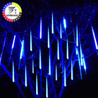 Coversage Christmas Outdoor Lights Fairy Led String 50cm Meteor Shower Tubes Christmas Tree Lights Outdoor Led String Garland