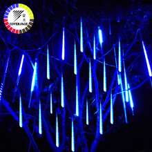 Coversage 50cm Meteor Shower Tubes Christmas Tree Lights Outdoor Led String Garland Garden Guirlande Lumineuse Luces Navidad(China)