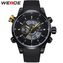 Вайде бренд мода мужчины спортивные часы мягкий PU ремешок из нержавеющей стали пряжка мужские кварцевые военная армия водонепроницаемые наручные часы