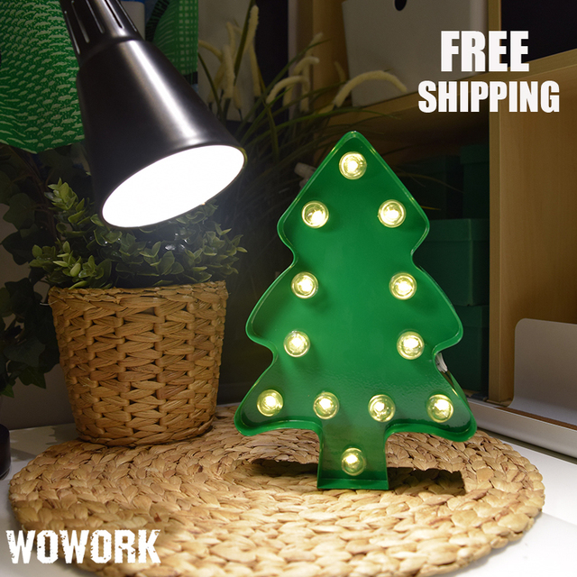 9inch metal marquee letter lights battery operated led lights christmas tree light for christmas decoration baby