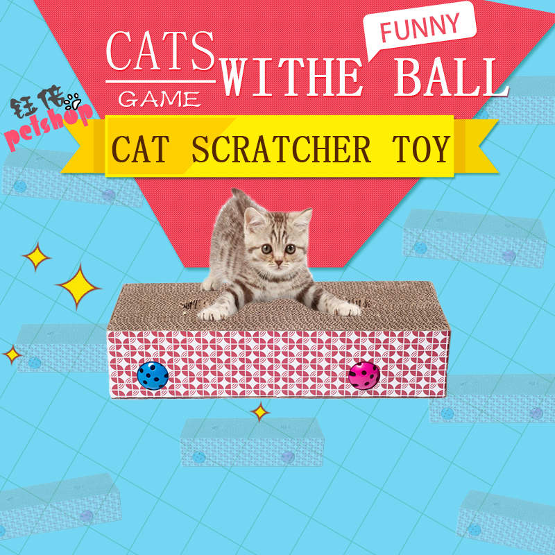 YUBEI Multi-hole Cat Scratcher With Ball Squeak Toys Fun Pet Products Cat Toy Supplies Scratchers for Cat Toys Whack A Mole Game