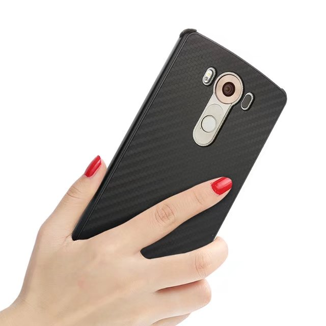 Углерода Волокно Роскошные Алюминий металла Рамки акрил обложка чехол для LG V10 2 в 1 съемная крышка для LG v10