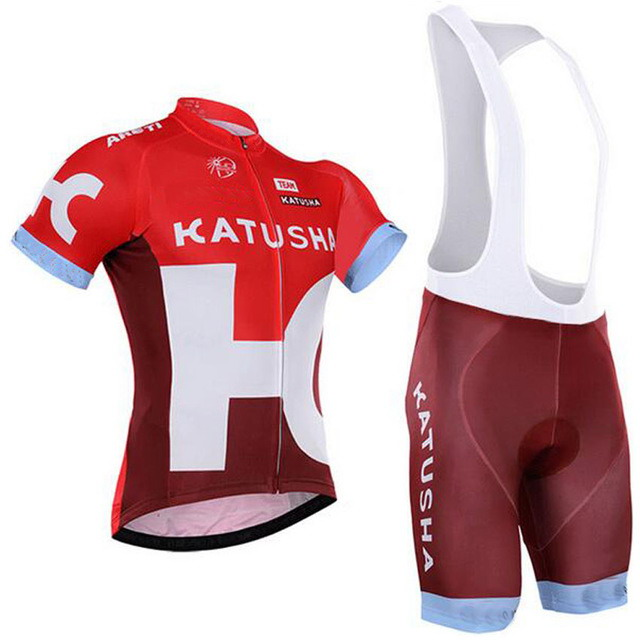 2016 KATUSHA Pro Team 2 Colors Men s Cycling Jersey Short Sleeve Bicycle Clothing With Bib