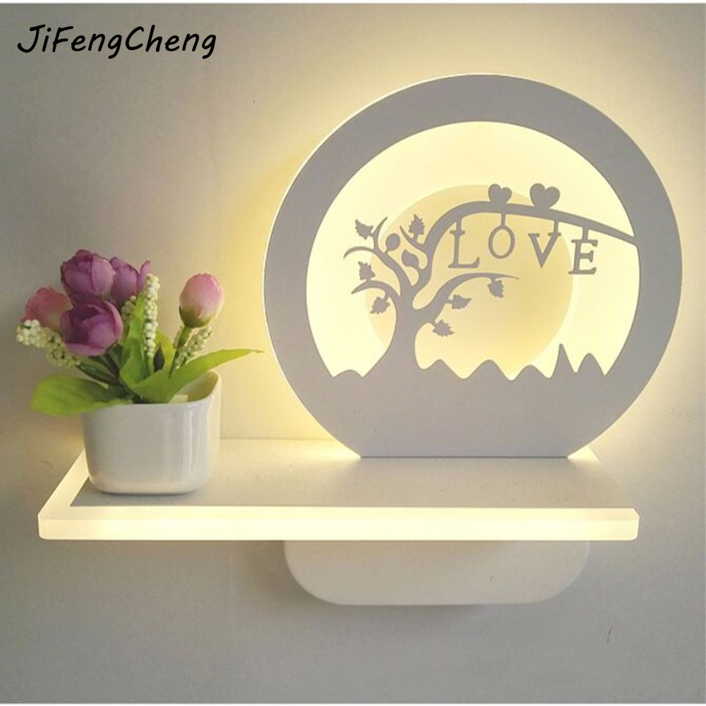 Modern Minimalist Bedside Lamp  Bedroom Wall Lamp  220V Personalized Acrylic Corridor/Stairs Indoor Lighting Fixtures Luminarias modern led acrylic wall lamps bedside applique chambre salon lampara de pared 110v 260v luminarias para sala bedside lamp