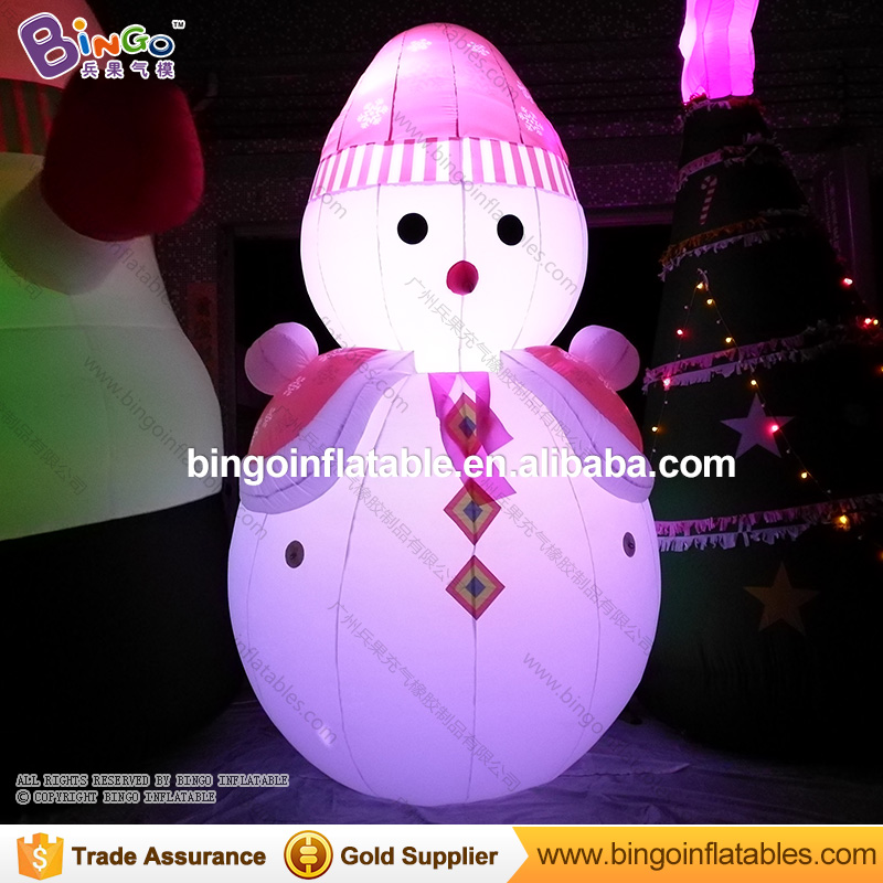 Free shipping Christmas Inflatable LED lighting Snowman Model Decorative blow up colors changes Snowman Replica for event Toys free shipping oktoberfest events 11 5ft led glow in the dark inflatable lighting can model for toys