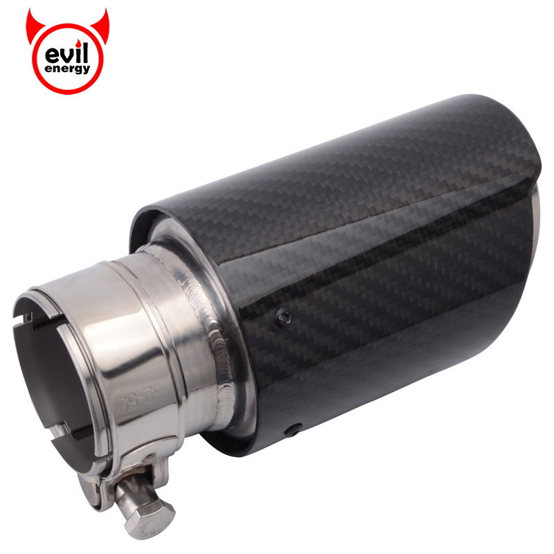 все цены на evil energy Universal Car Carbon Fiber Exhaust Tip 51mm 2