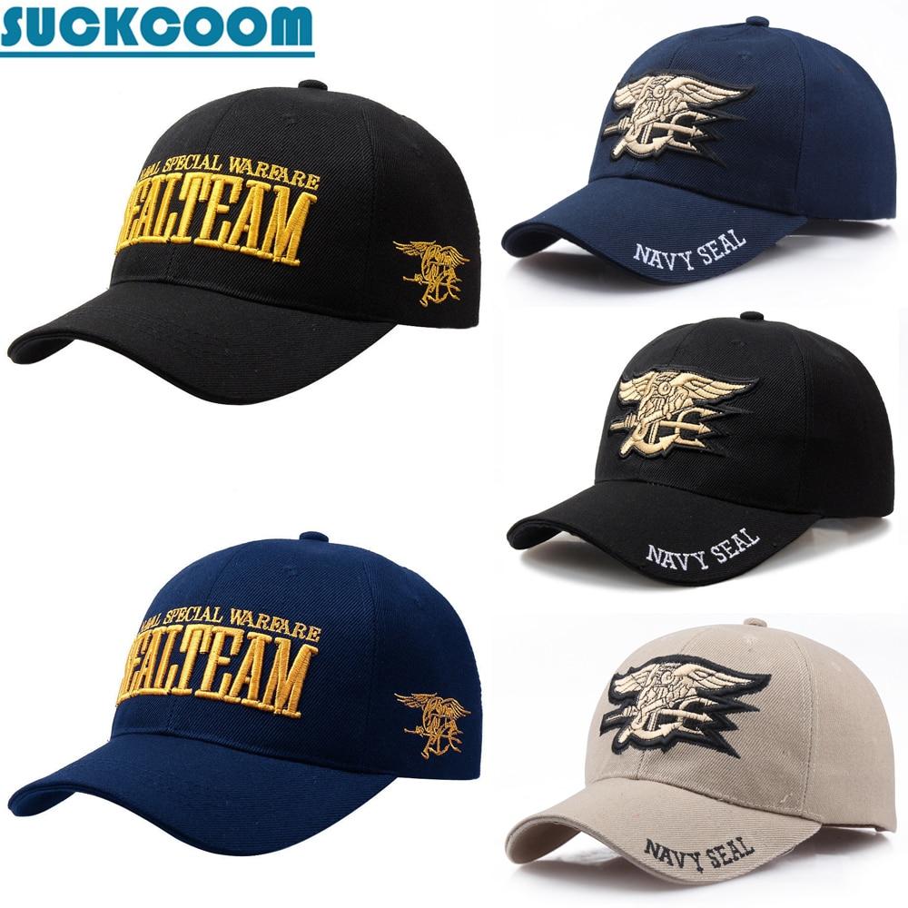 [SUCKCOOM] Brand Mens US NAVY   Baseball     Cap   NAVY SEALS / SEAL TEAM Embroidery   Cap   Tactical Army   Cap   Trucker Gorras Snapback Hat