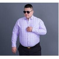 Plus Size 8XL 7XL Men Flannel Plaid Shirt Cotton 2017 Spring Autumn Casual Long Sleeve Shirt
