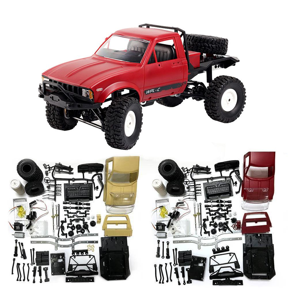 Mini Off-Road RC Camion C14 WPL 1:16 Hynix 2.4G Remote Control Car 15 km/H Top Speed Mini RC Monster Truck 4WD RTR/KIT