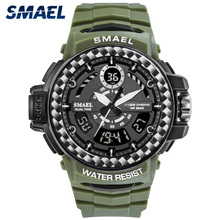 SMAEL Men Military 8014 Watch Male Relogios Masculino 50M Waterproof Wristwatch Chronograph Auto Date Watches Sport Quartz Clock 60 pcs knife ballpoint pen canetas stationery kalem school kawaii boligrafos stylo boligrafo criativa papeterie lapiceros