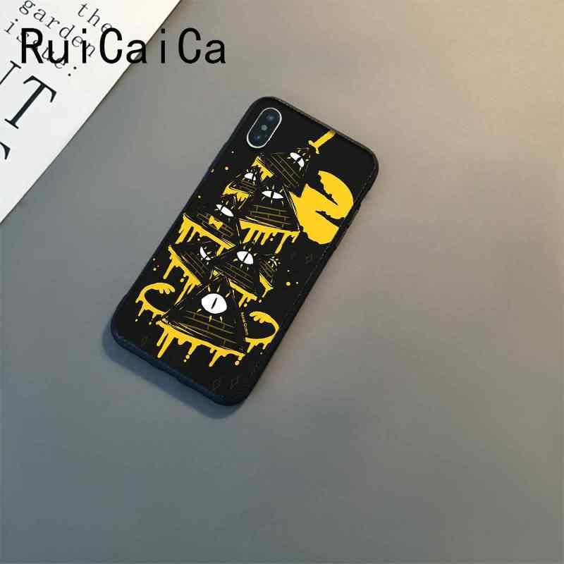 Ruicaica Trọng Lực Rơi Dự Luật Mật Mã Màu Đen Mềm Mại Ốp Lưng Điện Thoại Cho iPhone 8 7 6 6S 6Plus X XS Max 5 5S SE XR 11 11pro 11 Promax