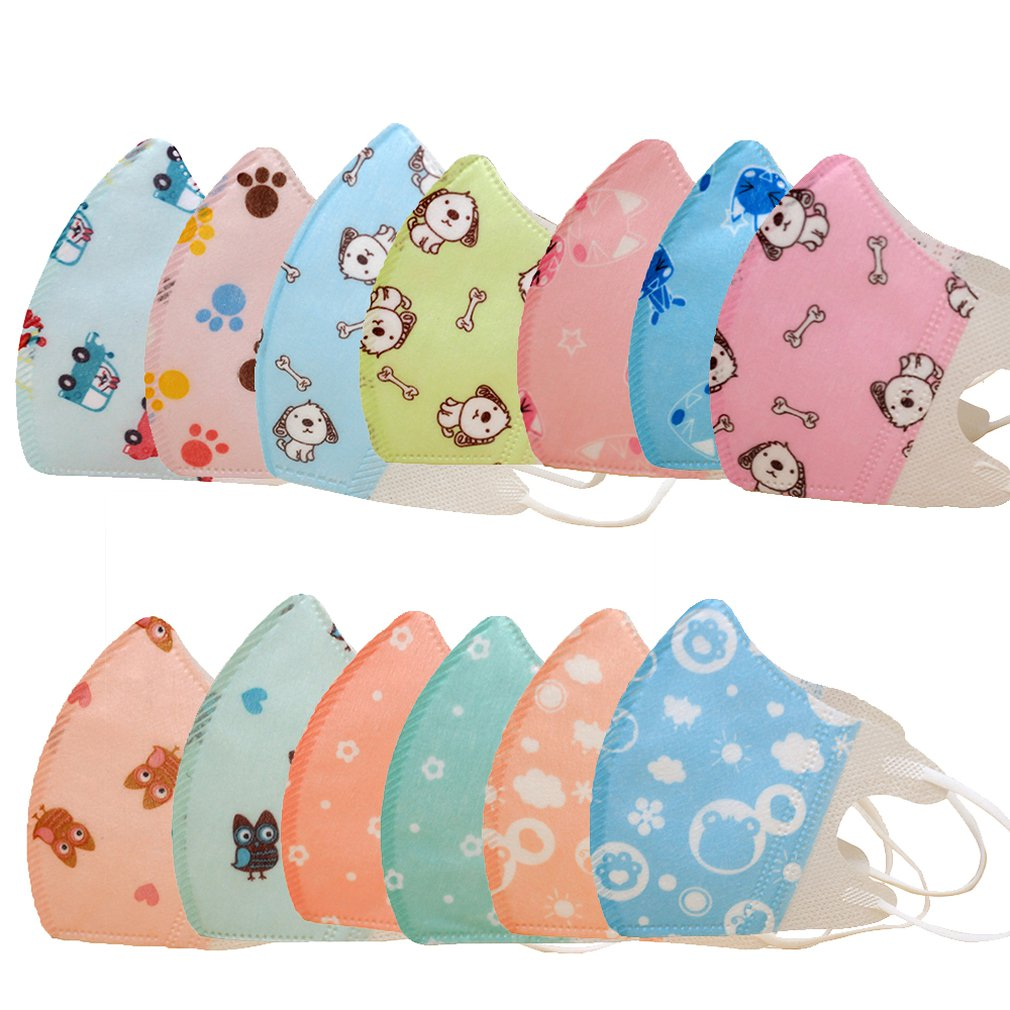 Disposable Cartoon Children Mouth Masks Three Dimensional Kids Anti-Dust Windproof Mouth-Muffle Flu- Face Mask Respirator