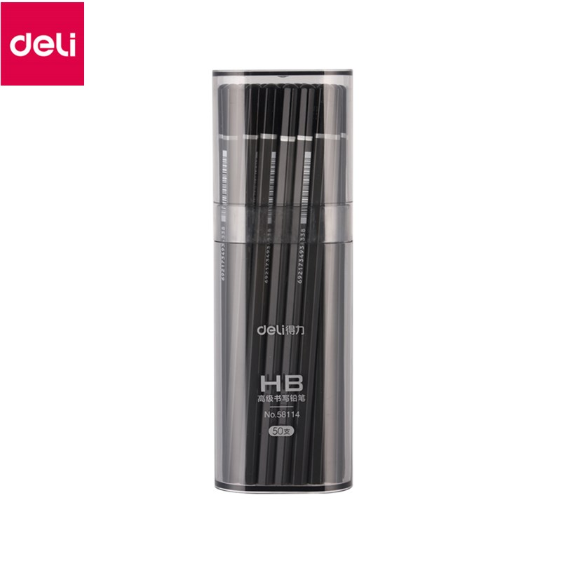 Deli Standard Pencils 50Pieces/lot Black Hard HB Pencil Writing Stationery Nature Wooden Pencil High Quality the environmental imagination – thoreau nature writing