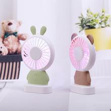 DSstyles 2019 Cute Gadget USB Fan Rechargeable Handheld Mini with Colorful Light for Student Adults Free Shipping