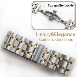 Image 3 - Bracelet de montre homme de marque Tissot T035 Couturier, 22mm 23mm 24mm, T035617 T035439A, acier inoxydable Bracelet de montre