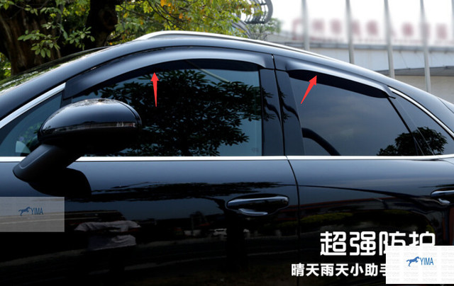 NOVO Para Porsche Macan 2014 2015 Viseiras Da Janela Toldos Vento de Ventilação Guarda Chuva Escudo Defletor Viseira