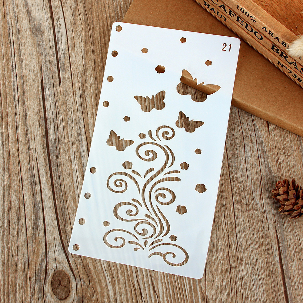 A6 Butterfly Floral DIY Craft Layering Stencils Painting Scrapbooking Stamping Embossing Album Paper Card Template