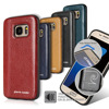 Pierre Cardin Hot Sale Brand Ultrathin Genuine Leather Hard Back Cover For Samsung Galaxy S7 S7