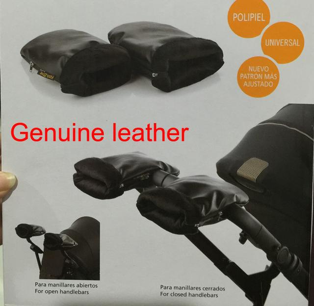 Cochecito de bebé cochecito de niño de invierno de cuero genuino mano muff guantes accesorios para silla de cesta guante guantes de embrague carro carro de bebe
