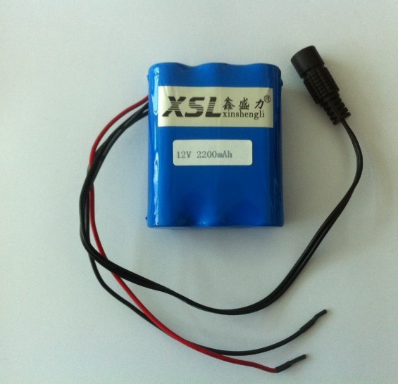 1PCS + Free shipping searching satellite instrument 12.6v 2200mAh 12V lithium battery 2.2AH st