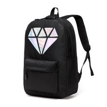 Women Canvas Backpack School Bags Holographic Silver Diamond Solid Teenage Girls Female Men Laptop Sale waterproof