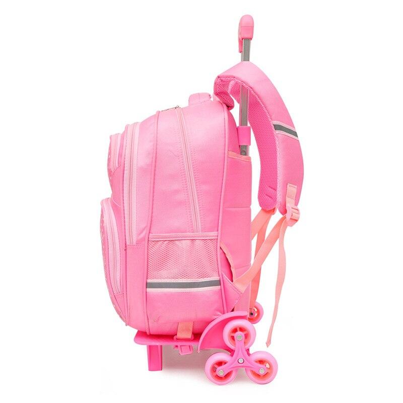 Filles Dos Roues Wheel Pink Dark De Sac Amovible Mochila 2 6 Enfants À Les 2 Pink Green Roulettes Pink 2 Bagages 3 Pour Purple D'écolier Cartable 6 Sacs Avec Voyage 6 7RFznRYg