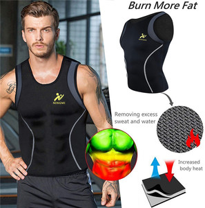 Image 2 - NINGMI Sports Shirt Mens Slimming Vest Fitness Tights Weight Loss Neoprene Sauna Waist Trainer Body Shapers Breathable Tank Top