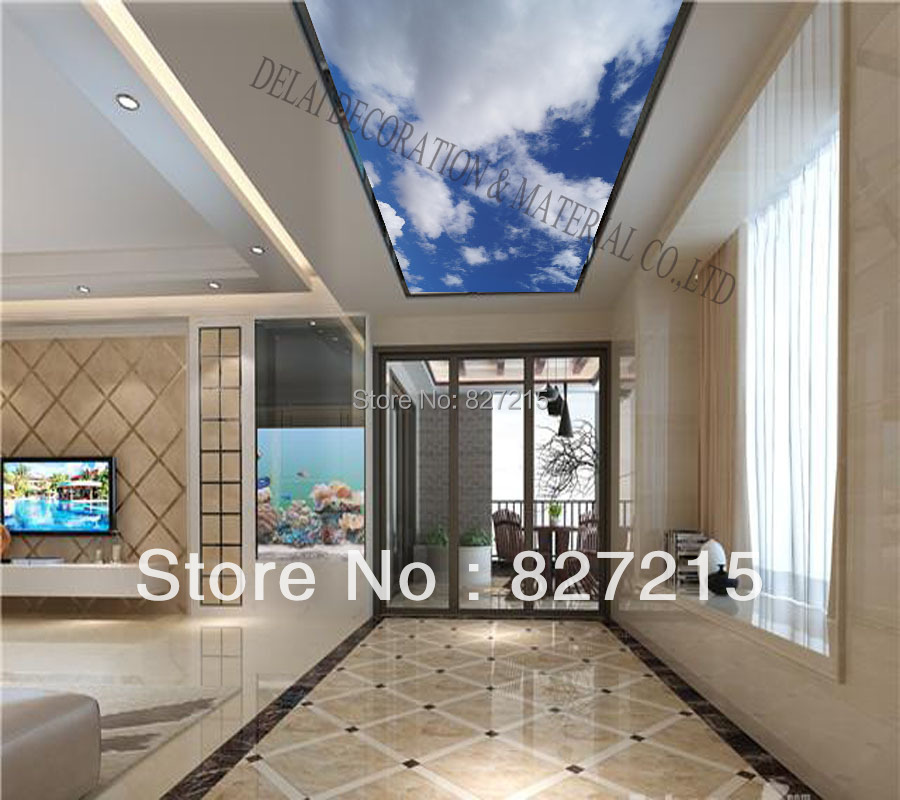 S 1070/ Blue Sky /Print Ceiling Tiles /PVC Stretched
