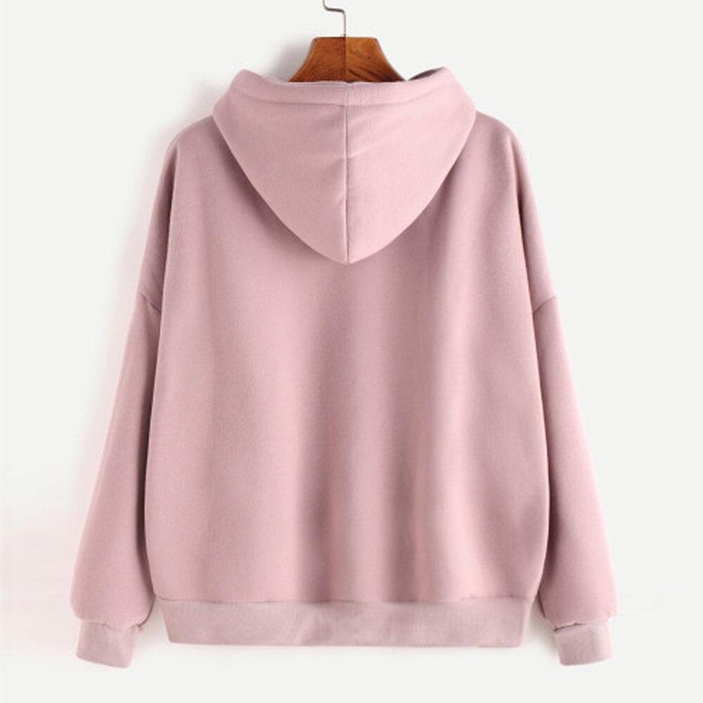 Women Hoodies Women'S Sweatshirt Ladies Solid Long Sleeve Outwear Block Colour Top Autunm New Arrival Female Sweatshirt 1