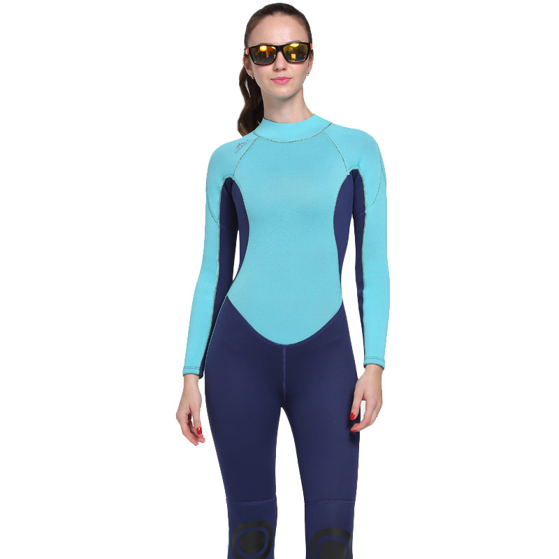 Women's Winter Warm Surf Swim Wet Suit Female Long Sleeve Swimwear Rashguard Woman Sun Protection One Piece 3MM Neoprene Wetsuit men s winter warm swimwear rashguard male camouflage one piece swimsuit 3mm neoprene wetsuit man snorkeling diving suit