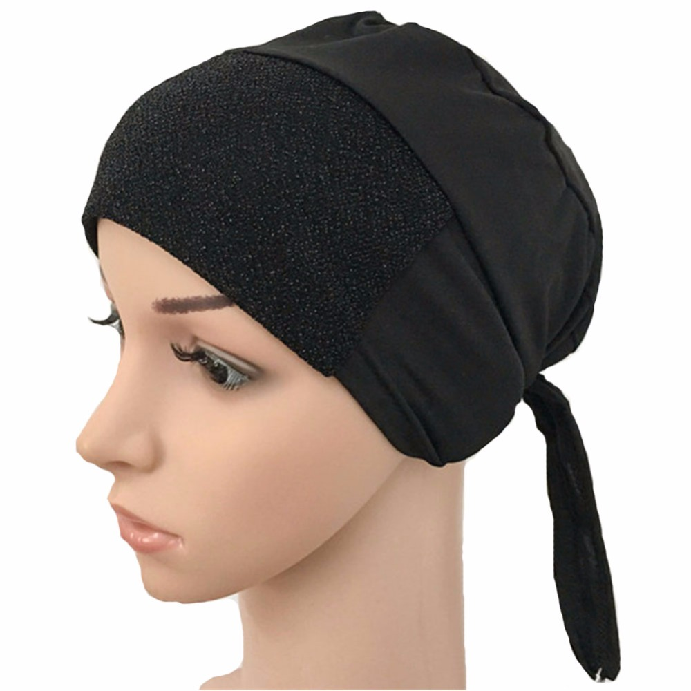 Stretchable Hijab Underscarf  Cap Shawl Muslim Islim Scarf Inner Headband Hijab Polyester Fiber Many Colors Wholesale